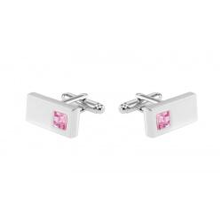 Pink cufflinks