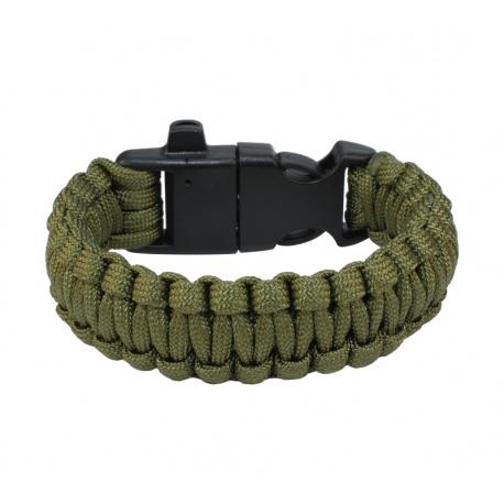 Paracord armbånd militærgrønn