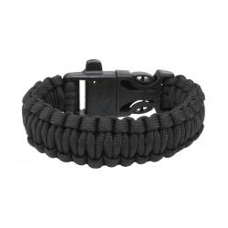 Survival paracord bracelet black