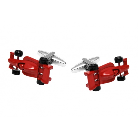 Red F1 car cufflinks