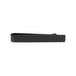 Black diagonal stripe tie slide