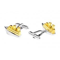 Golden guitar cufflinks