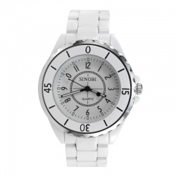 White analog watch