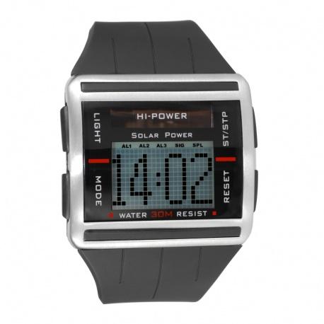 Solar powered digital watch