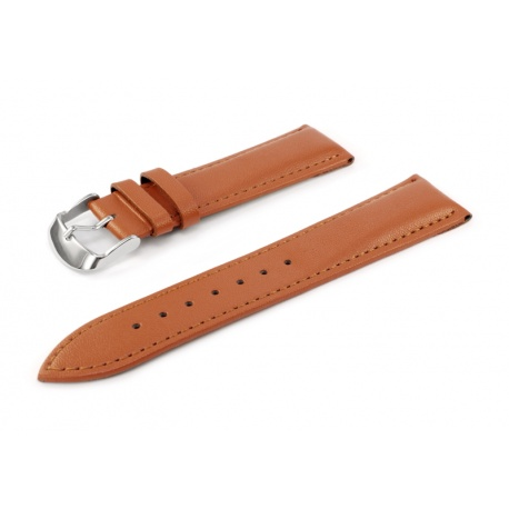 Brown leather watchstrap 22 mm