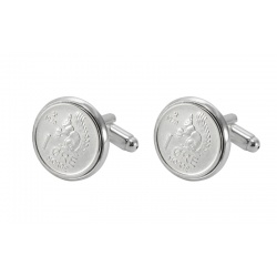 Norwegian coin cufflinks 1970