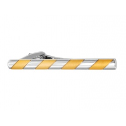 Long silver and gold tieclip