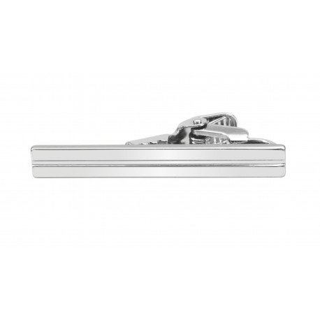 Short striped tie clip