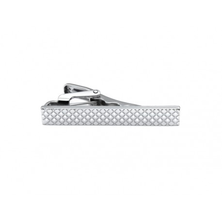 Short diagonal route tie clip