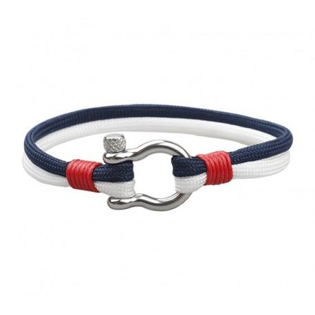 Armbånd rød/hvit/blå