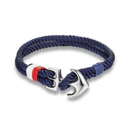 Anchor bracelet blue