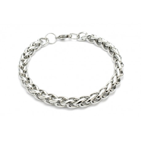 Thick braided stainless steel bracelet