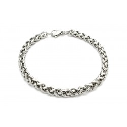 Braided steel bracelet