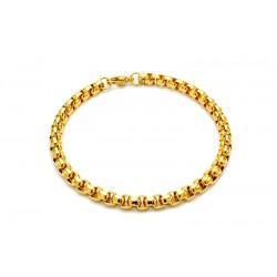 Round gold bracelet