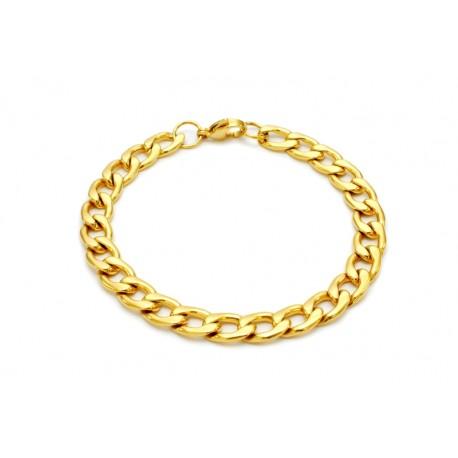Cuban gold bracelet stainless steel 7.5mm