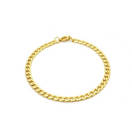 Narrow gold steel bracelet