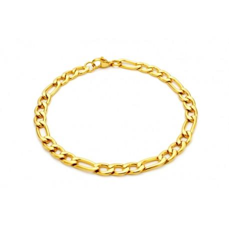 Gilded figaro bracelet
