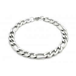 8.5mm stainless steel Figaro bracelet