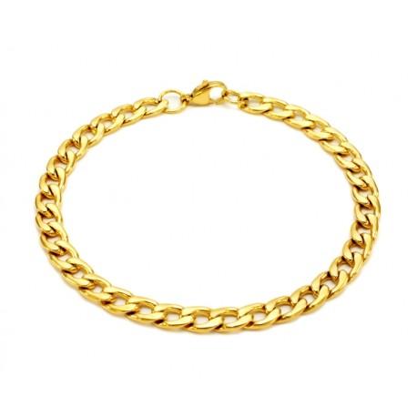 Gull armlenke i stål 6mm