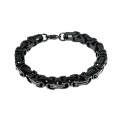 Black stainless steel bracelet 8mm