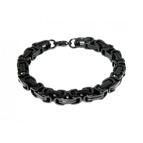 Black stainless steel bracelet 8mm