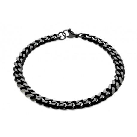 Black link bracelet 7mm