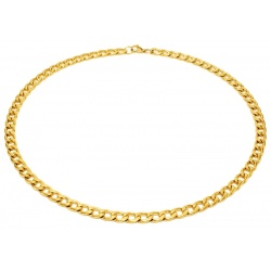 Gold necklace stainless steel 7.5mm
