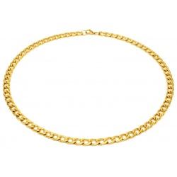 Gull halskjede i stål 7.5mm