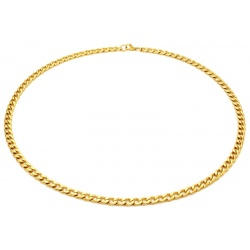 Gold necklace stainless steel 6mm