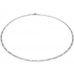 Stainless steel necklace Figaro 4mm