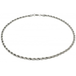 Twisted stainless steel necklace 6mm