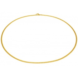 Narrow steel gold necklace 3mm