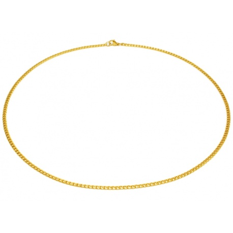 Smalt gull halskjede 3mm