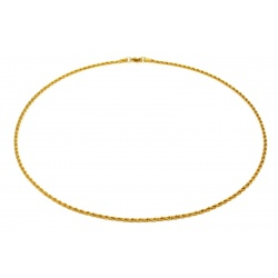 Twisted gilded steel necklace 2.4mm