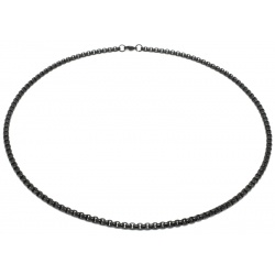 Black stainless steel necklace 4mm