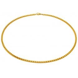 Halskjede gull lenke rustfritt stål 4mm