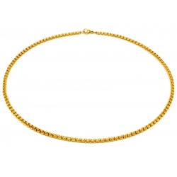 Stainless steel gold necklace 4mm