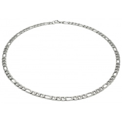 Stainless steel figaro necklace 7 mm