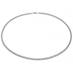 Braided stainless steel necklace 4mm