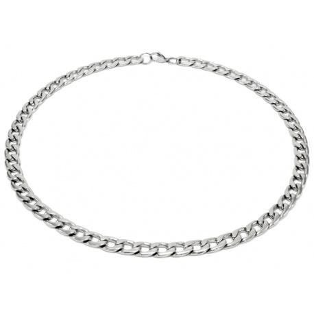Blankt stål halskjede 9.5mm