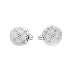 Round engraved steel cufflinks