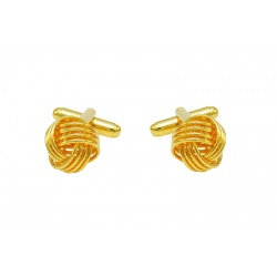 Gold fine tread knot cufflinks
