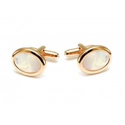 Oval mother of pearl cufflinks