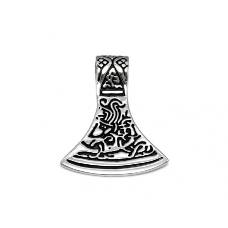 Viking axe steel pendant