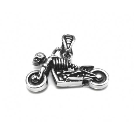 Skjelett på motorsykkel anheng