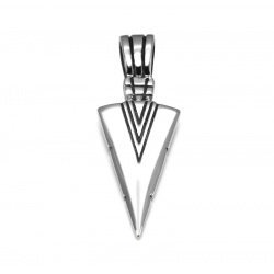 Spearhead pendant stainless steel