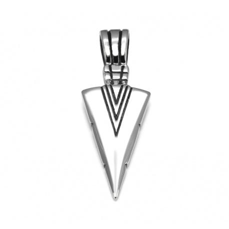 Spearhead pendant stainless steel