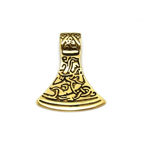 Gold axe pendant