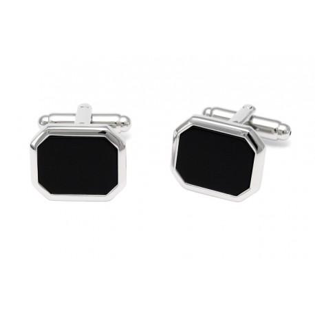 Classic black stone cufflinks