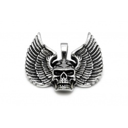 Flying skull pendant